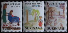 Poštovní známky Surinam 1991 Dìtské kresby Mi# 1391-93
