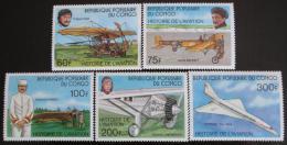 Poštovní známky Kongo 1977 Historie letectví Mi# 593-97