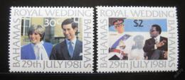 Poštovní známky Bahamy 1981 Královská svatba Mi# 480-81