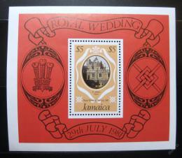 Poštovní známka Jamajka 1981 Královská svatba Mi# Block 17