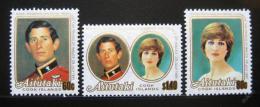 Poštovní známky Aitutaki 1981 Královská svatba Mi# 406-08
