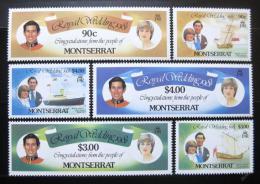 Poštovní známky Montserrat 1981 Královská svatba Mi# 465-71