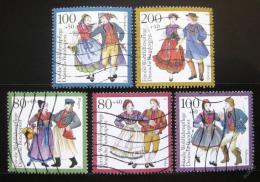 Poštovní známky Nìmecko 1993 Kostýmy Mi# 1696-1700