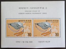 Poštovní známky Jižní Korea 1974 Hudební nástroje Mi# Bl 375