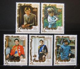 Poštovní známky Penrhyn 1981 Královská svatba Mi# 227-31
