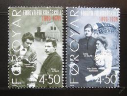 Poštovní známky Faerské ostrovy 2000 Lidová škola Mi# 372-73