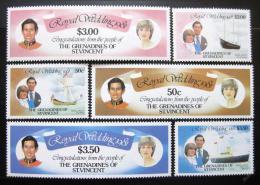 Poštovní známky Svatý Vincenc Gren. 1981 Královská svatba Mi# 212-18