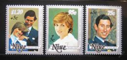 Poštovní známky Niue 1981 Královská svatba Mi# 442-44