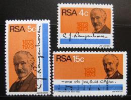 Poštovní známky JAR 1973 C. J. Langenhoven Mi# 424-26