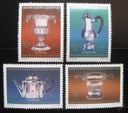 Poštovní známky JAR 1985 Poháry ze støíbra Mi# 678-81