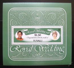 Poštovní známka Tuvalu 1981 Královská svatba Mi# Block 5