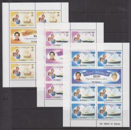 Poštovní známky Tuvalu 1981 Královská svatba Mi# 145-50