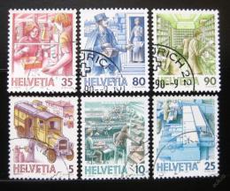 Poštovní známky Švýcarsko 1987 Pošta fluor. Mi# 1321-26 Kat 10€