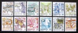Poštovní známky Švýcarsko 1986-89 Pošta komplet SC# 779-90