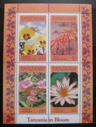 Poštovní známky Tanzánie 1986 Kvìtiny Mi# Block 57