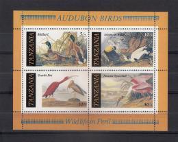 Poštovní známky Tanzánie 1986 Ptáci, Audubon Mi# Block 55
