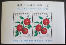 Poštovní známky Jižní Korea 1974 Jablka Mi# Block 386
