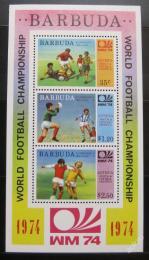 Poštovní známky Barbuda 1974 MS ve fotbale Mi# Block 8