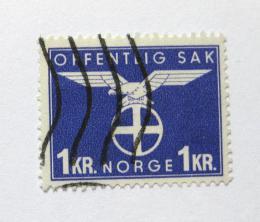 Poštovní známka Norsko 1944 Nacistická strana Mi# 54 Kat 18€