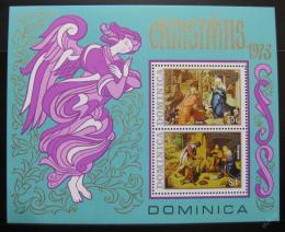 Poštovní známky Dominika 1973 Umìní, vánoce Mi# Block 20