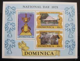 Poštovní známky Dominika 1975 Národní den Mi# Block 34