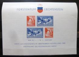 Poštovní známky Lichtenštejnsko 1936 Poštovní muzeum Mi# Block 2 Kat 80€