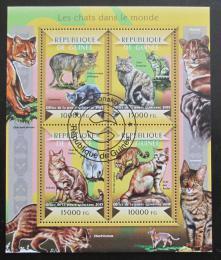Poštovní známky Guinea 2015 Domácí koèky Mi#10957-60 Kat 20€ - zvìtšit obrázek