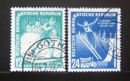 Poštovní známky DDR 1952 Zimní sporty Mi# 298-99