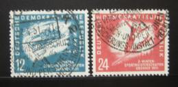 Poštovní známky DDR 1951 Zimní sporty Mi# 280-81