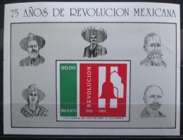 Poštovní známka Mexiko 1985 Mexická revoluce Mi# Block 31