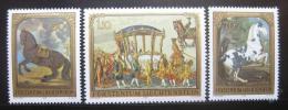 Poštovní známky Lichtenštejnsko 1978 Umìní, konì Mi# 717-19