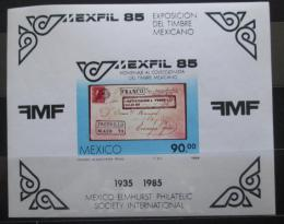 Poštovní známka Mexiko 1985 Výstava MEXFIL Mi# Block 28
