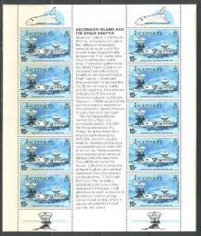 Poštovní známky Ascension 1981 Let raketoplánu Mi# 275
