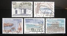 Poštovní známky Dánsko 1981 Scénické regiony Mi# 733-37