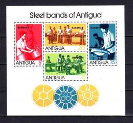 Poštovní známky Barbuda 1974 Hudební skupiny Mi# Block 7
