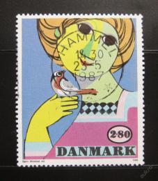 Poštovní známka Dánsko 1986 Umìní, Bjorn Wiinblad Mi# 855