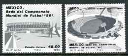 Poštovní známky Mexiko 1985 Fotbalové stadiony Mi# 1971-72