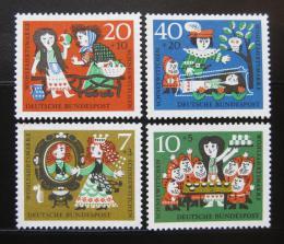 Poštovní známky Nìmecko 1962 Snìhurka Mi# 385-88