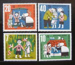 Poštovní známky Nìmecko 1961 Perníková chaloupka Mi# 369-72