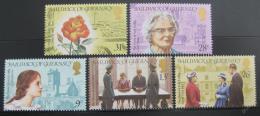 Poštovní známky Guernsey 1984 Biografické scény Mi# 279-83