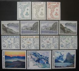 Poštovní známky Faerské ostrovy 1975 Krajiny a mapy Mi# 7-20