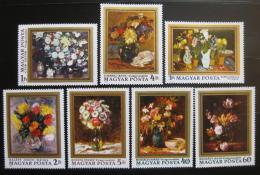 Poštovní známky Maïarsko 1977 Umìní, kvìtiny Mi# 3192-98