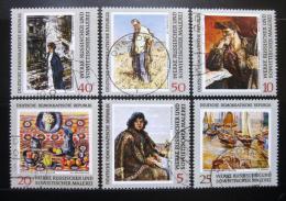 Poštovní známky DDR 1969 Ruské umìní Mi# 1528-33