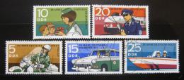 Poštovní známky DDR 1970 Výroèí policie Mi# 1579-83
