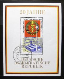 Poštovní známka DDR 1969 Výroèí vzniku republiky Mi# Block 28
