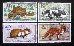 Poštovní známky DDR 1970 Mezinárodní aukce kožešin Mi# 1541-44