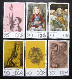 Poštovní známky DDR 1970 Umìní Mi# 1607-12