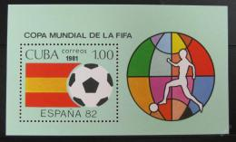 Poštovní známka Kuba 1981 MS ve fotbale Mi# Block 66