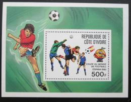 Poštovní známka Pobøeží Slonoviny 1981 MS ve fotbale Mi# Block 24