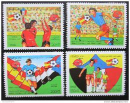 Poštovní známky Jemen 1982 MS ve fotbale Mi# 289-92